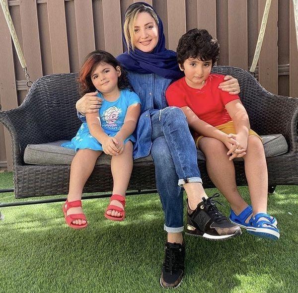 شیلا خداداد و فرزندانش + عکس