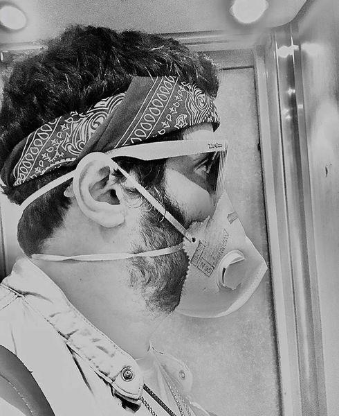 قیافه مهران رنجبر در روزهای کرونا + عکس