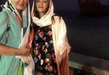 سفر لاله اسکندری با خواهر کوچکش به کیش+عکس