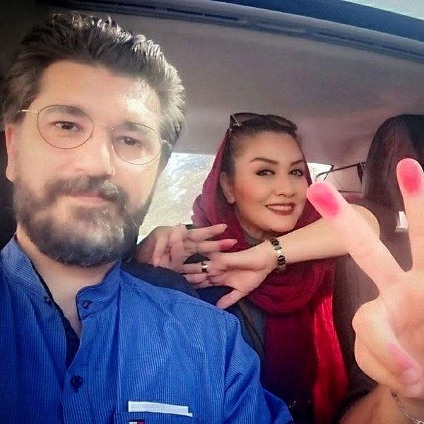 عکس مدل رای دهی امیرحسین مدرس و همسرش