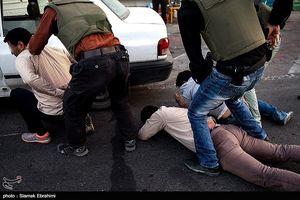 عملیات دستگیری قاچاقچیان مواد مخدر در تهران
