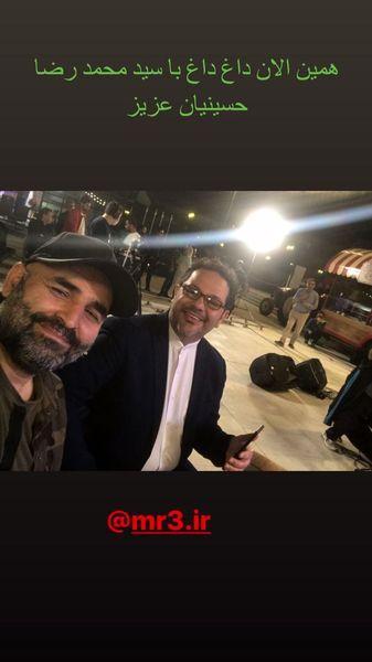 علی مسعودی در کنار مجری مشهور تلویزیون + عکس