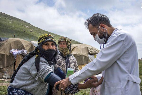 واکسیناسیون عشایر در چادرهایشان+ عکس