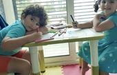 هنرنمایی بچه های خانم بازیگر + عکس