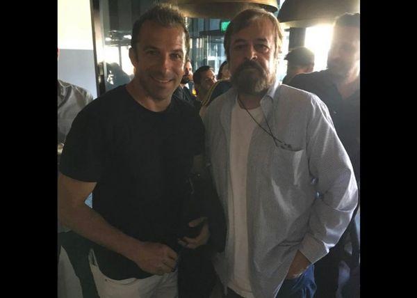 حمیدرضا صدر و بازیکن معروف ایتالیایی در لوس آنجلس+عکس