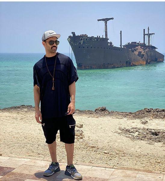 بازیگر جوان در در جزیره کیش + عکس