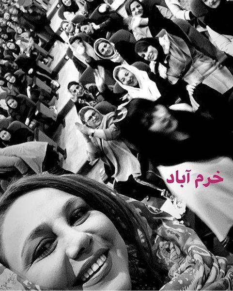 بهنوش بختیاری در جمع هواداران خرم آبادیش + عکس