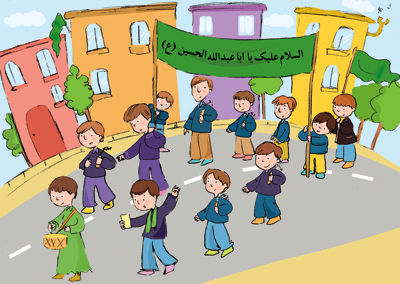رنگ آمیزی نقاشی محرم مخصوص کودکان
