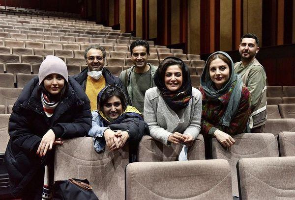 بازیگران ملکه گدایان در سالن نمایش + عکس