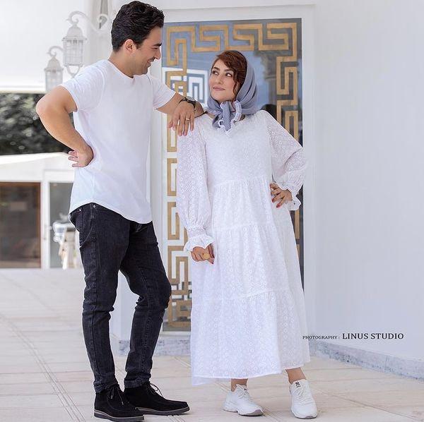 الهام طهموری و همسرش + عکس