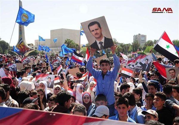شادی مردم سوریه از دو پیروزی بر فرانسه + تصاویر