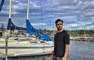 مهدی ماهانی در سواحل سوئد