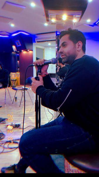 رضا بهرام در حال تمرین + عکس