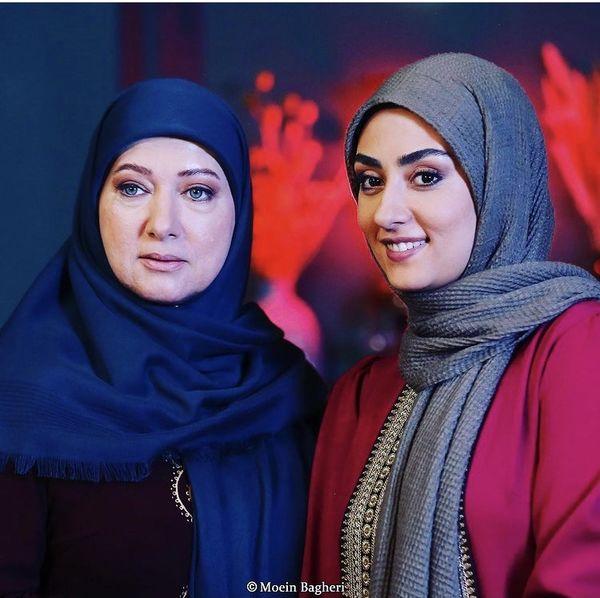 الهام طهموری در کنار بازیگر معروف + عکس