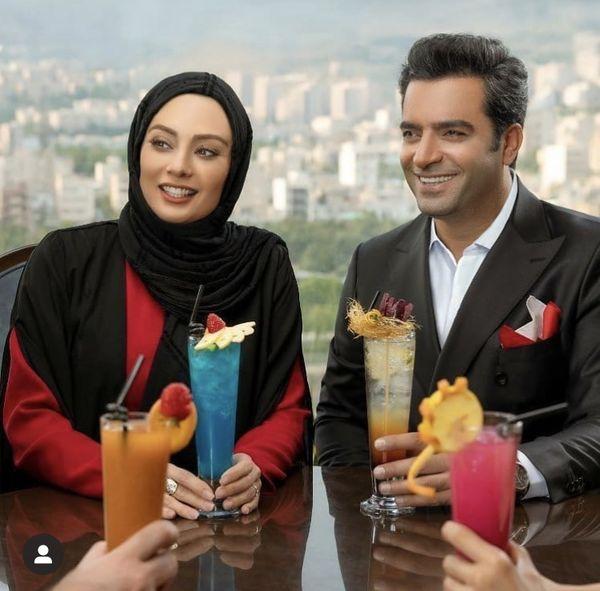 یکتا ناصر و همسرش در یه کافه + عکس