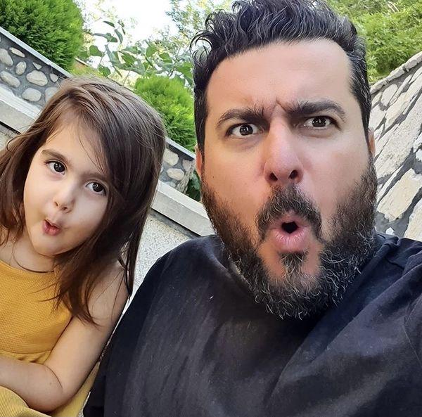 شیطنت های محسن کیایی با دخترش + عکس
