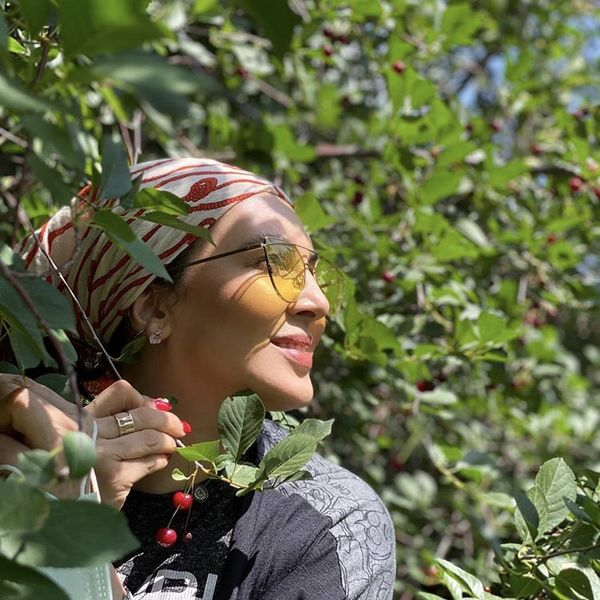 لیلا بلوکات در باغ آلبالو + عکس