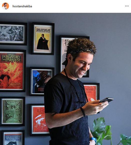 عکس  هوتن شکیبا در اتاق هنری و زیبایش