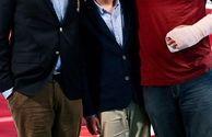 ست کردن امیرحسین رستمی و پسرش+عکس