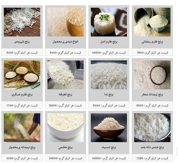 قیمت انواع برنج در آستانه ماه رمضان
