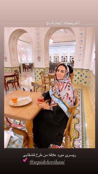 حضور سوگل طهماسبی در رستورانی سنتی + عکس