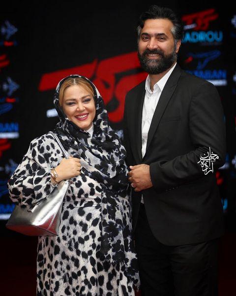 تیپ پلنگی بهاره رهنما در کنار همسرش+عکس