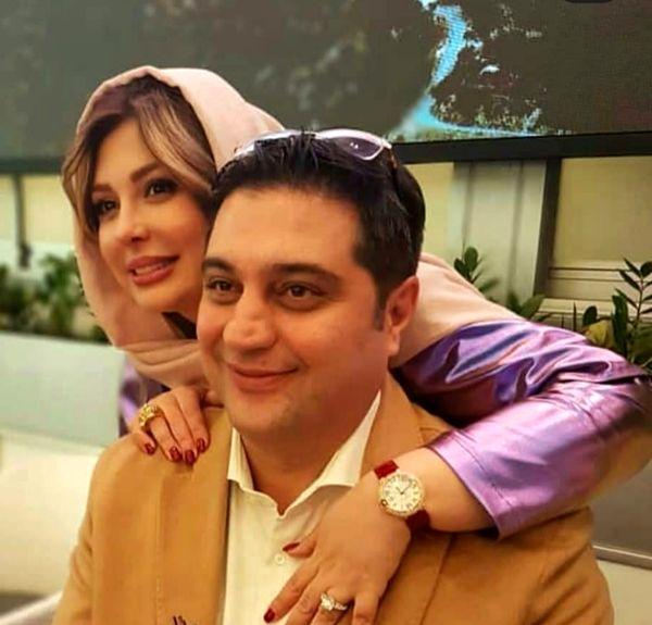حضور خانم بازیگر در کنار همسرش