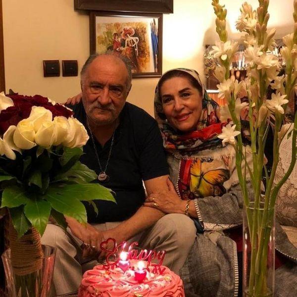 داریوش ارجمند و همسرش + عکس