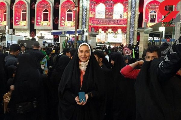 اصلاح رفتار خانم بازیگر ایرانی بعد از پیادهروی اربعین !