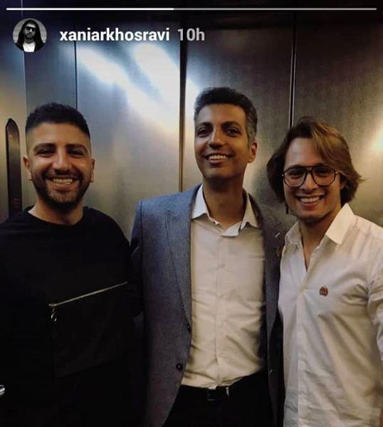 سلفی آسانسوری خواننده مشهور و عادل فردوسی پور + عکس