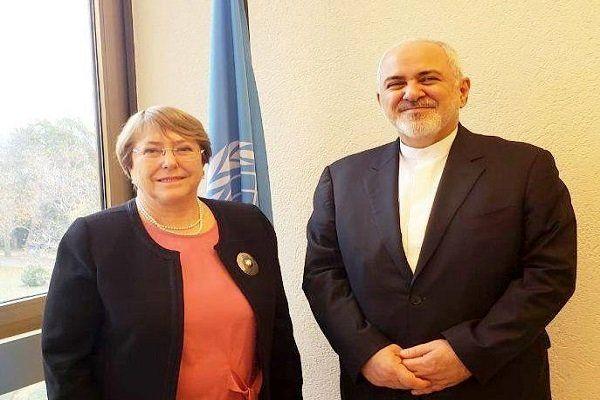 ظریف با «کمیساریای عالی حقوق بشر سازمان ملل» دیدار کرد