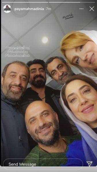 پیمان احمدی نیا در کنار همکاران جدیدش + عکس