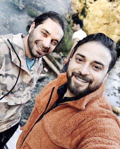 سلفی بابک جهانبخش با دوستش + عکس