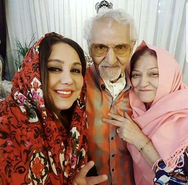 بهنوش بختیاری در کنار والدینش + عکس