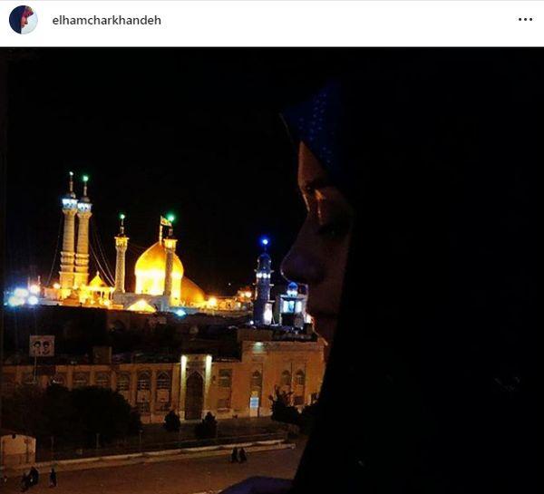 درد و دل خانم بازیگر با حضرت زینب(س)+عکس