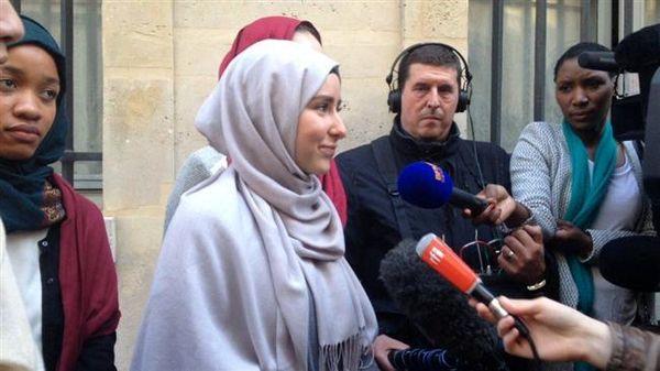 «روز حجاب» در دانشگاه پاریس+ تصاویر
