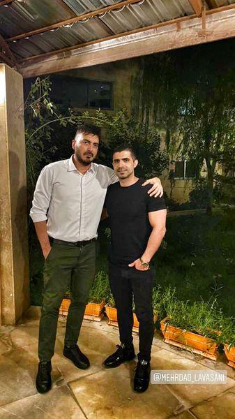 نیما شاهرخ شاهی در کنار دوستش + عکس