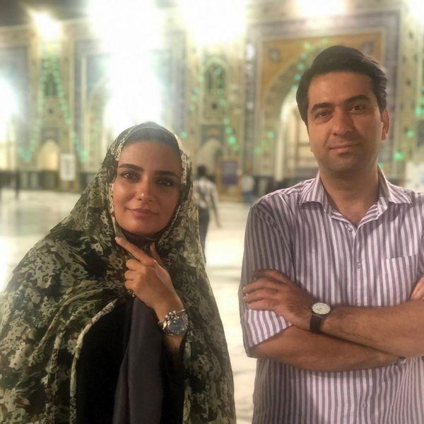 لیندا کیانی و آقای خواننده در مشهد+عکس