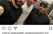 هم باشگاهی خوش صدای مهدی رحمتی+عکس