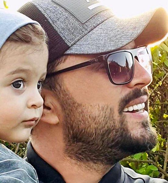 پدرام کریمی و فرزند دلبندش + عکس