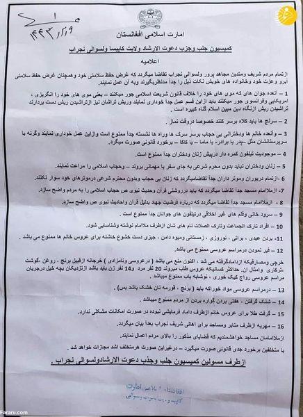 جدید ترین محدودیت طالبان برای زنان ؛ گوشی دوربین دار ممنوع !
