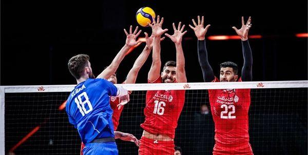 لیگ ملتهای والیبال/ شکست بلند قامتان ایران مقابل روسیه