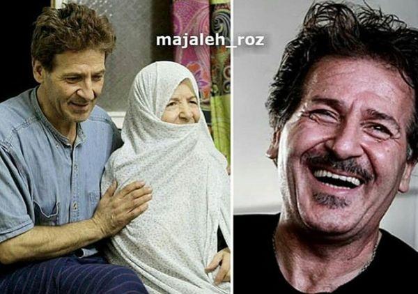 عکس ابوالفضل پورعرب و مادرش