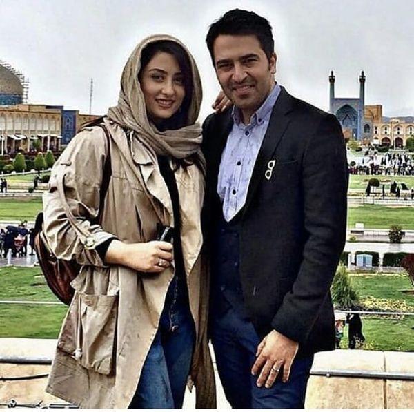 الهام طهموری و همسرش در سفر + عکس
