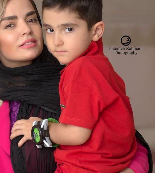 عکس خوشتیپ سپیده خداوردی و پسرش