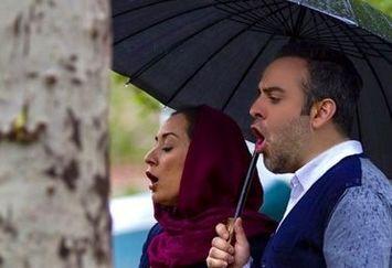 آواز خوانی آقا و خانم بازیگر در پاییز+عکس
