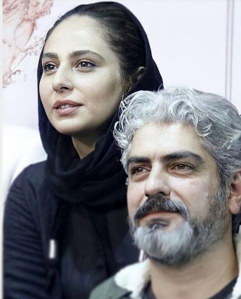 مهدی پاکدل در کنار همسر جدیدش + عکس
