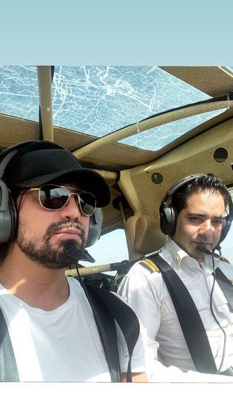 خلبانی امیرعباس گلاب + عکس
