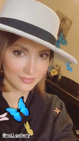 کلاه پروانه طوری سمیرا حسینی + عکس