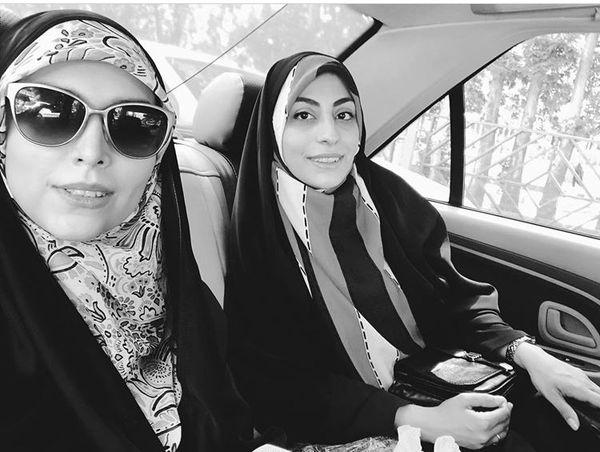 مژده لواسانی و دوستش در تاکسی + عکس
